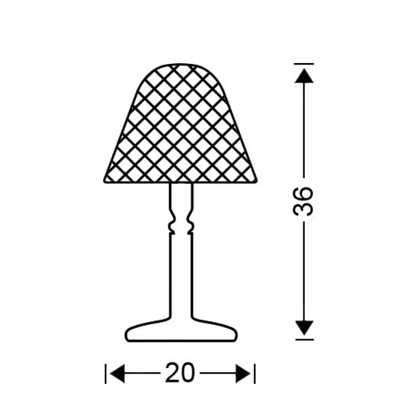 Classic table lamp | QUADRI collection - Drawing - Classic table lamp | QUADRI collection