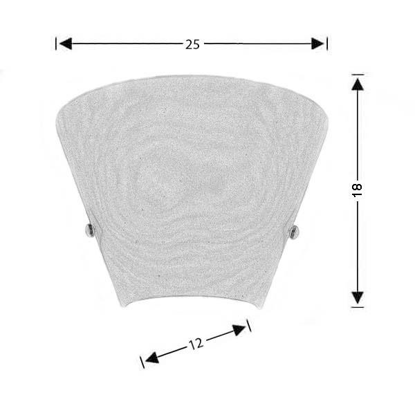 Λευκό φωτιστικό τοίχου Μουράνο | ΚΩΝΟΙ - Σχέδιο - Λευκό φωτιστικό τοίχου Μουράνο | ΚΩΝΟΙ