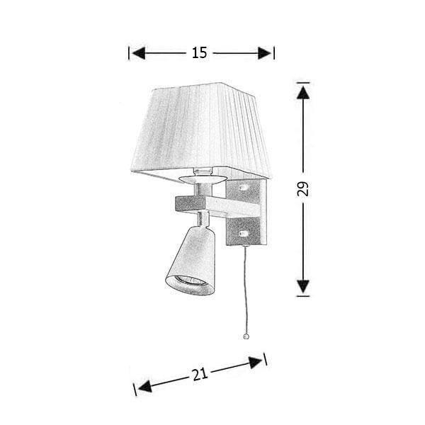 Rustic 2-bulb wall lamp | SMART-CAFE - Drawing - Rustic 2-bulb wall lamp | SMART-CAFE