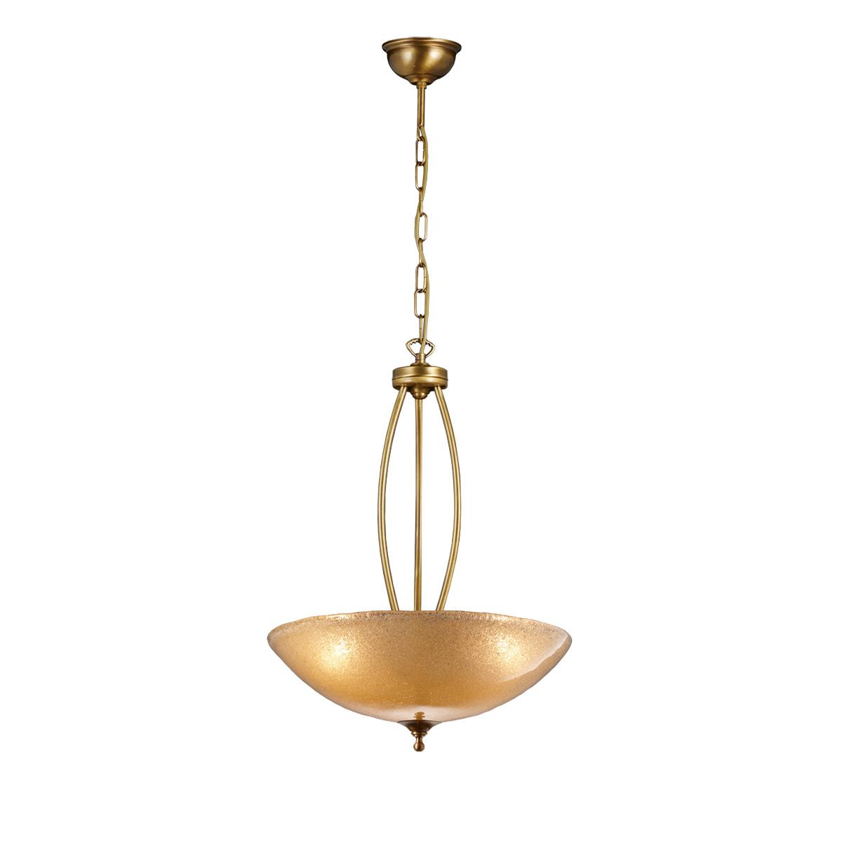 Κλασικό μπρούτζινο κρεμαστό φωτιστικό ΒΙΚΟΣ classic brass suspension lamp