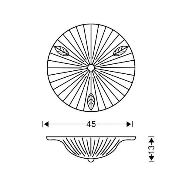 Πλαφονιέρα από κρύσταλλο Murano | ΦΥΛΛΟ - Σχέδιο - Πλαφονιέρα από κρύσταλλο Murano | ΦΥΛΛΟ