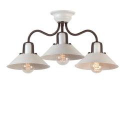Ρετρό χειροποίητο φωτιστικό οροφής ΜΗΛΟΣ handmade retro ceiling lamp
