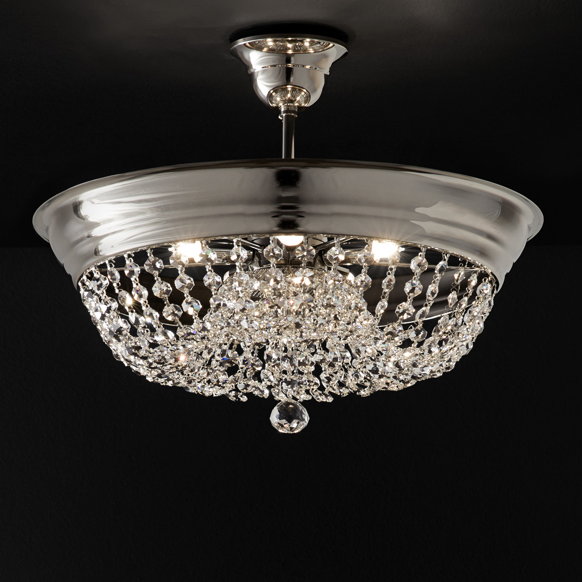 Φωτιστικό οροφής με κρύσταλλα ΑΡΤΕΜΙΣ ceiling lamp with crystal accents