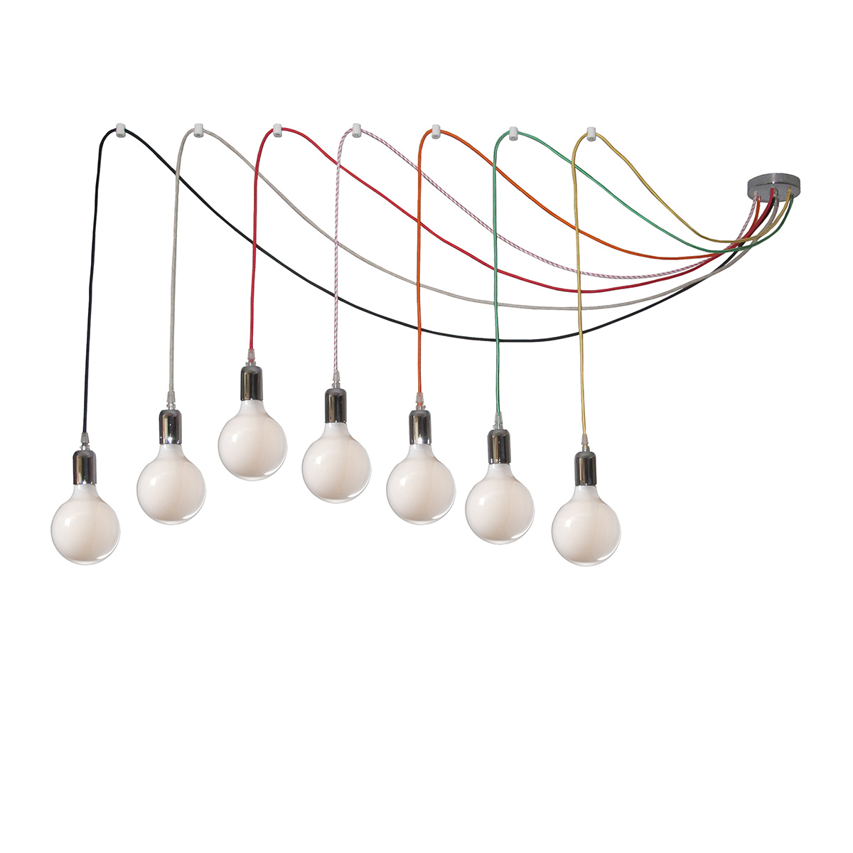 7 Bulb Chandelier With Colorful Cables Mavros Lighting Parts Diagram Cables5029s