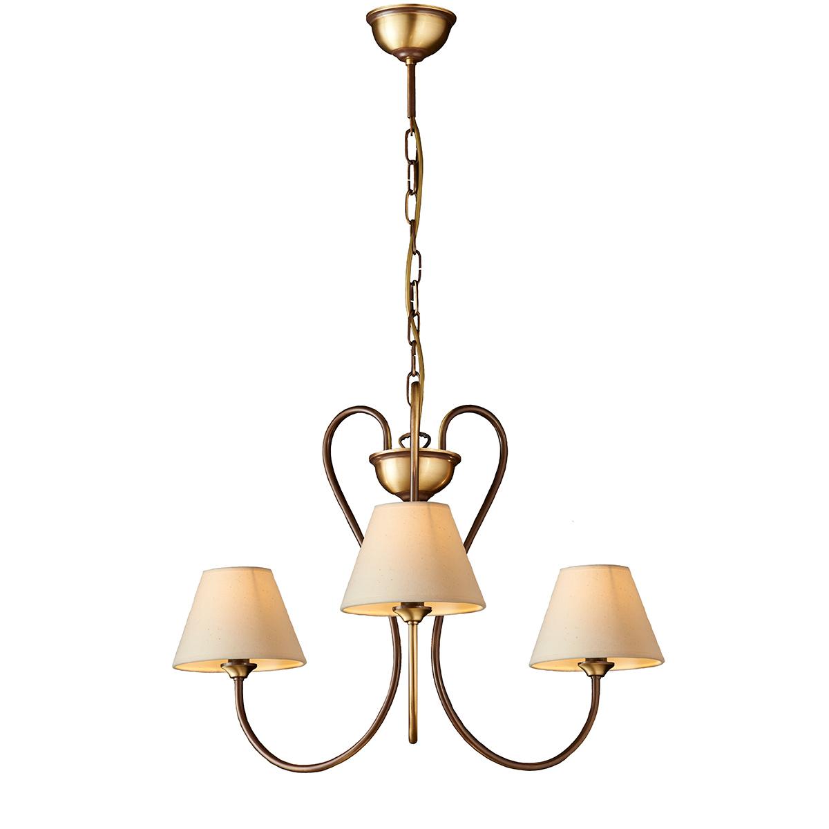 Κλασικό φωτιστικό με καπέλα ΝΑΞΟΣ-1 classic chandelier with lamp shades