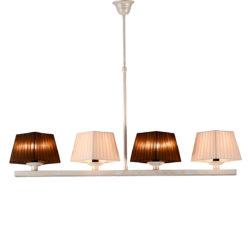 Φωτιστικό πατίνα με καπέλα SMART-CAFE chandelier with lamp shades