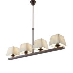 Ρουστίκ φωτιστικό με καπέλα SMART-CAFE rustic chandelier with lamp shades
