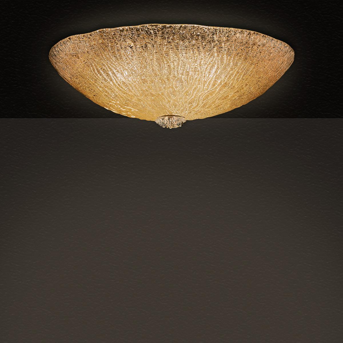 Κλασικό φωτιστικό οροφής Μουράνο ΚΥΜΑΤΑ classic murano ceiling lamp