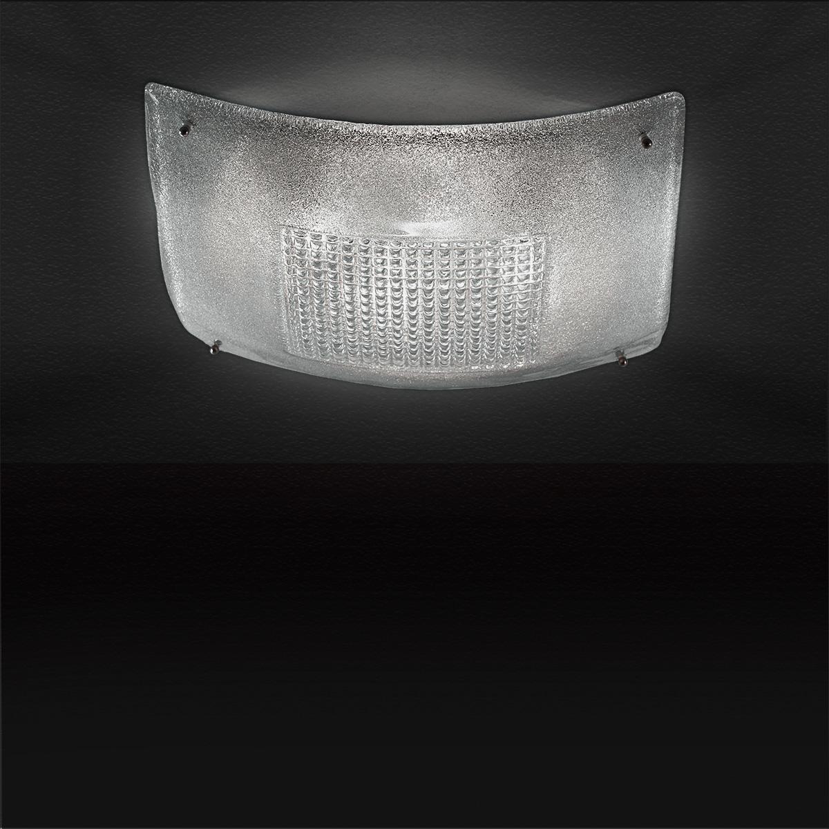 Πλαφονιέρα από κρύσταλλο Μουράνο SQUARE murano crystal ceiling lamp