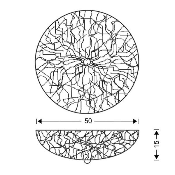Κλασικό φωτιστικό οροφής σαλονιού | ΚΥΜΑΤΑ - Σχέδιο - Κλασικό φωτιστικό οροφής σαλονιού | ΚΥΜΑΤΑ
