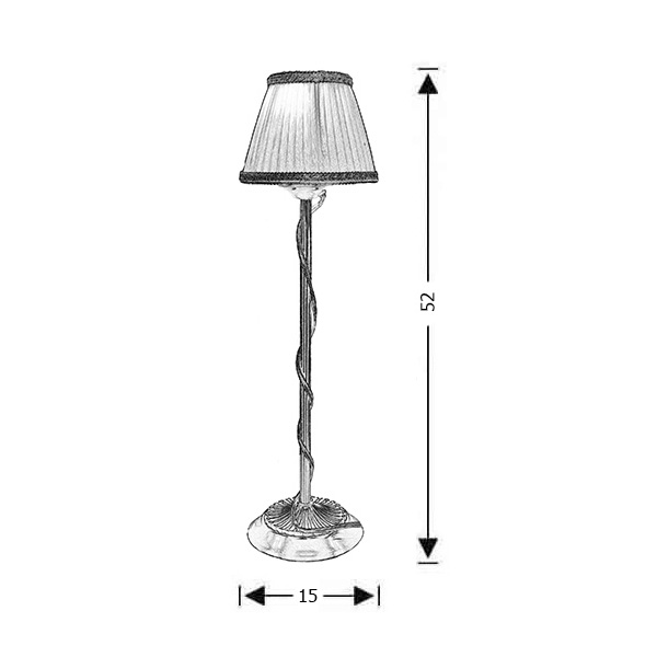 Classic brass table lamp with shades | OLYMPUS - Drawing - Classic brass table lamp with shades | OLYMPUS
