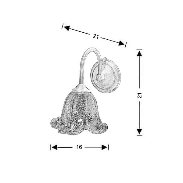Μπρούτζινο επίτοιχο φωτιστικό | ΝΑΞΟΣ-1 - Σχέδιο - Μπρούτζινο επίτοιχο φωτιστικό | ΝΑΞΟΣ-1
