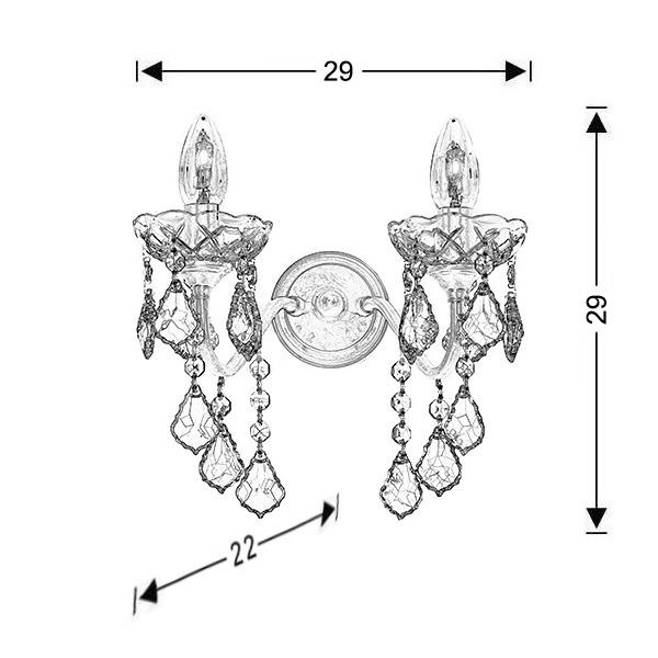 Classic wall lamp | DION - Drawing - Classic wall lamp | DION