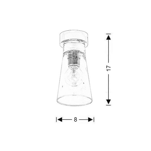 Modern ceiling lamp | WHISKEY - Drawing - Modern ceiling lamp | WHISKEY