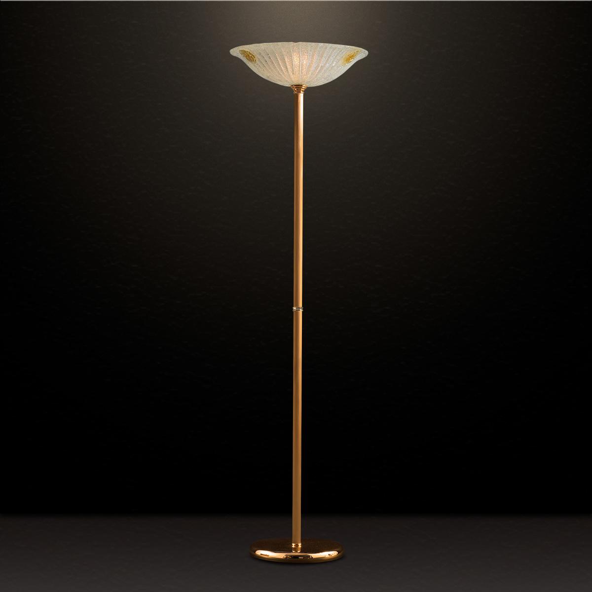 Κλασικό επιδαπέδιο φωτιστικό με κρύσταλλο Μουράνο ΦΥΛΛΟ classic Murano crystal floor lamp