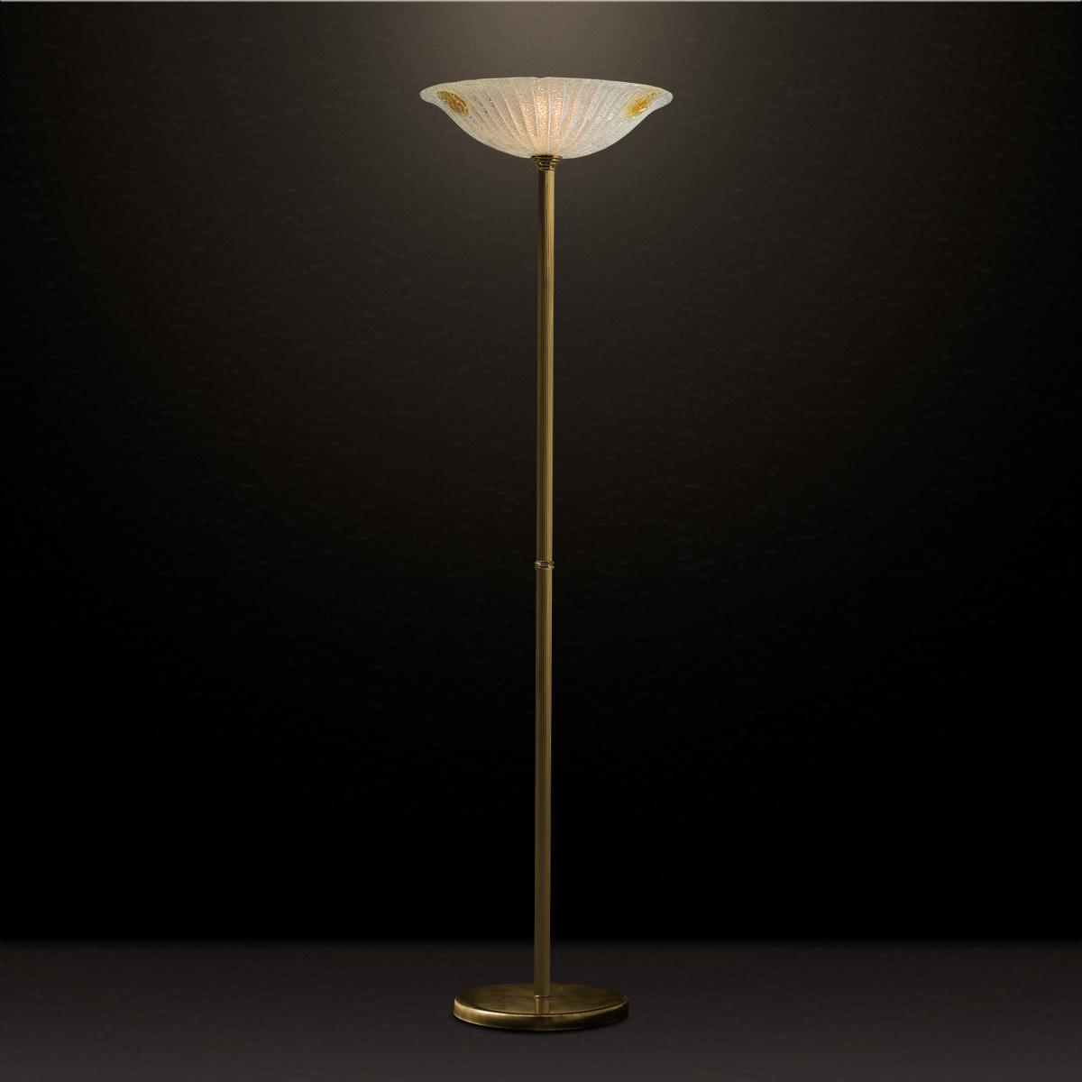 Μπρούτζινο επιδαπέδιο φωτιστικό ΦΥΛΛΟ brass floor lamp