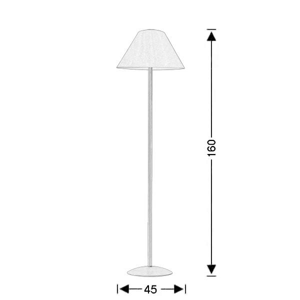Ρουστίκ φωτιστικό δαπέδου με καπέλο | ΝΑΞΟΣ-2 - Σχέδιο - Ρουστίκ φωτιστικό δαπέδου με καπέλο | ΝΑΞΟΣ-2