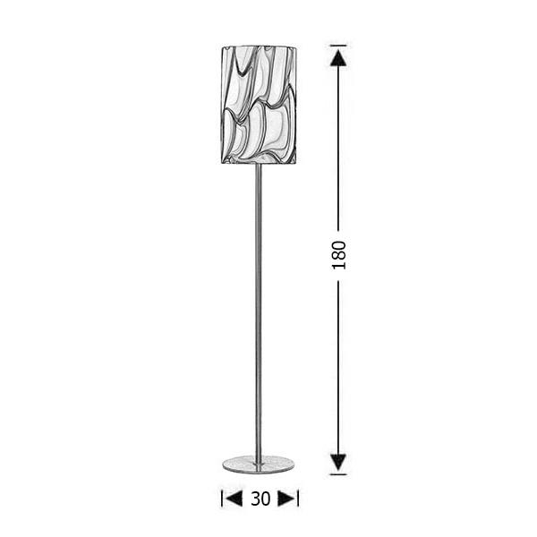 Μοντέρνο φωτιστικό δαπέδου | COLORE - Σχέδιο - Μοντέρνο φωτιστικό δαπέδου | COLORE