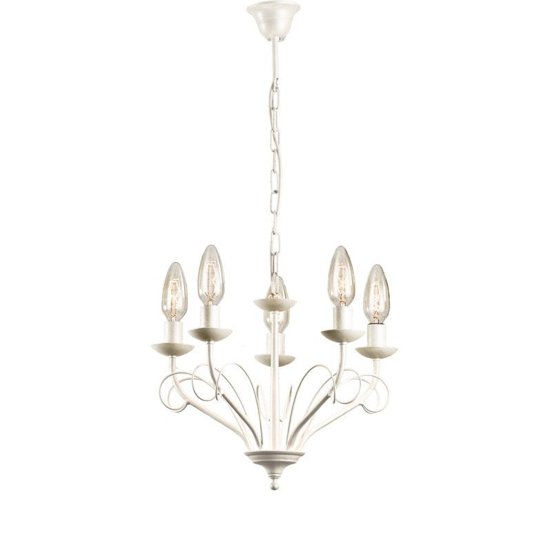 5φωτο ρουστίκ φωτιστικό ΣΑΝΤΟΡΙΝΗ 5-bulb rustic chandelier