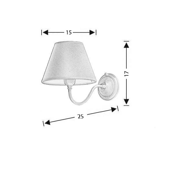 Classic wall lamp with shade | GYTHIO - Drawing - Classic wall lamp with shade | GYTHIO