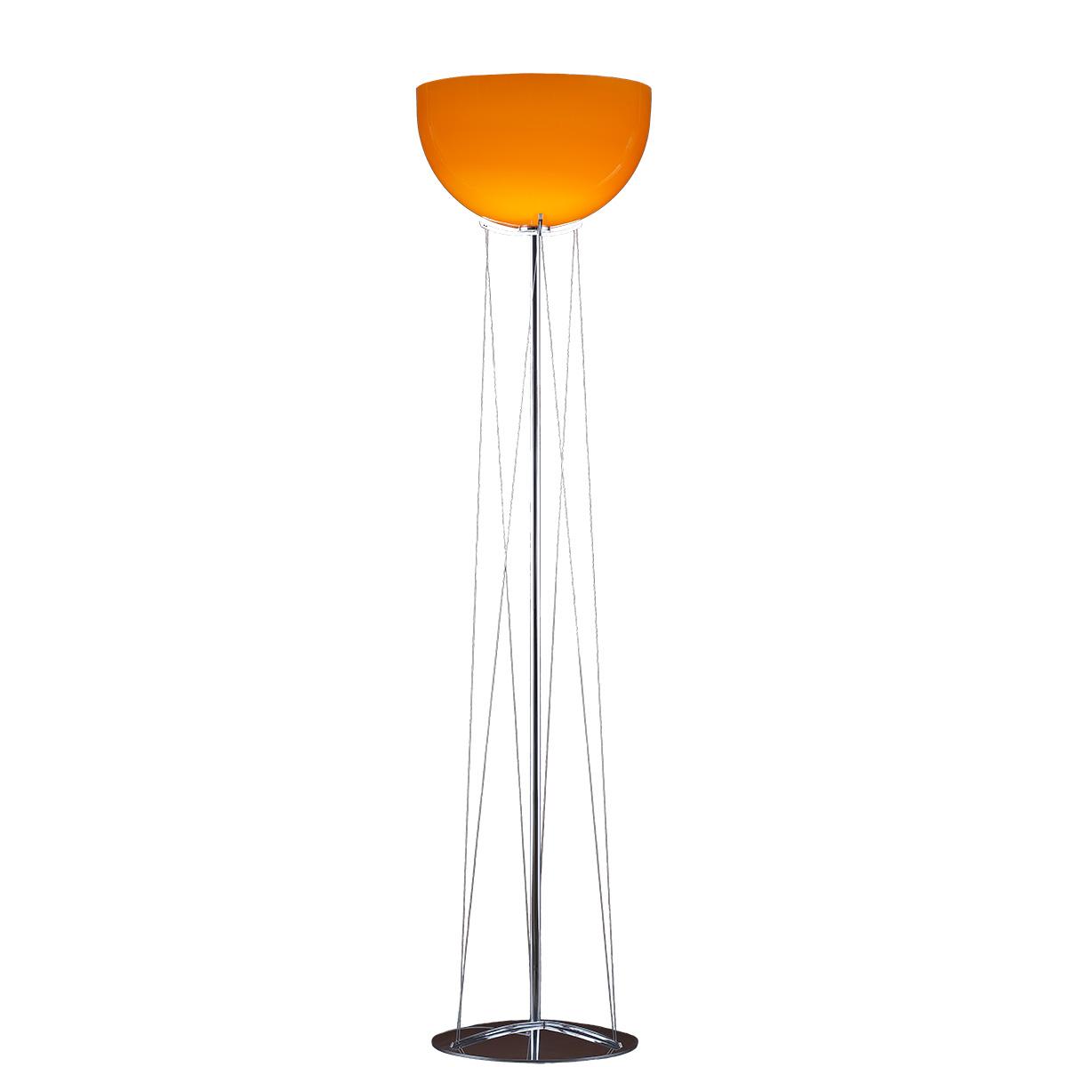 Φωτιστικό δαπέδου Μουράνο πορτοκαλί MARS modern orange Murano floor lamp