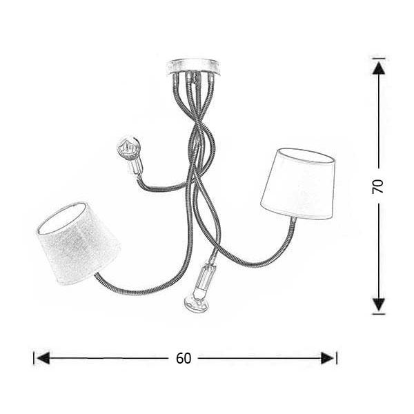 Εύκαμπτο 4φωτο φωτιστικό | FLEX - Σχέδιο - Εύκαμπτο 4φωτο φωτιστικό | FLEX