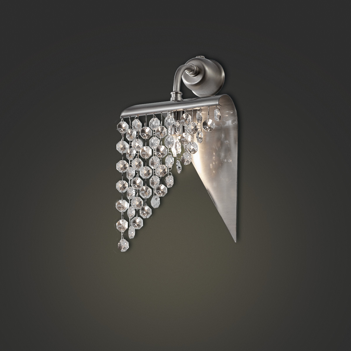 Μοντέρνα απλίκα με κρύσταλλα ΕΡΜΗΣ modern wall lamp with crystal accents