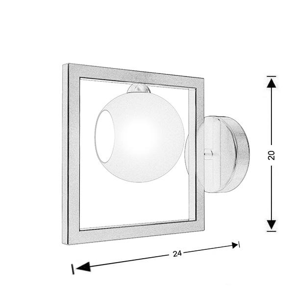 Μοντέρνο φωτιστικό τοίχου Μουράνο | ΜΠΑΛΕΣ - Σχέδιο - Μοντέρνο φωτιστικό τοίχου Μουράνο | ΜΠΑΛΕΣ