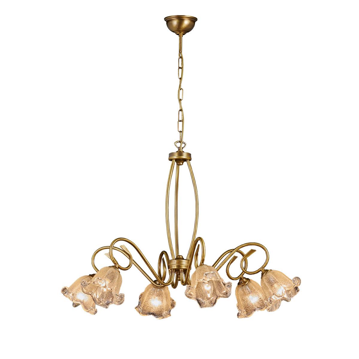 Κλασικό μπρούτζινο πολύφωτο ΒΙΚΟΣ classic 6-bulb chandelier