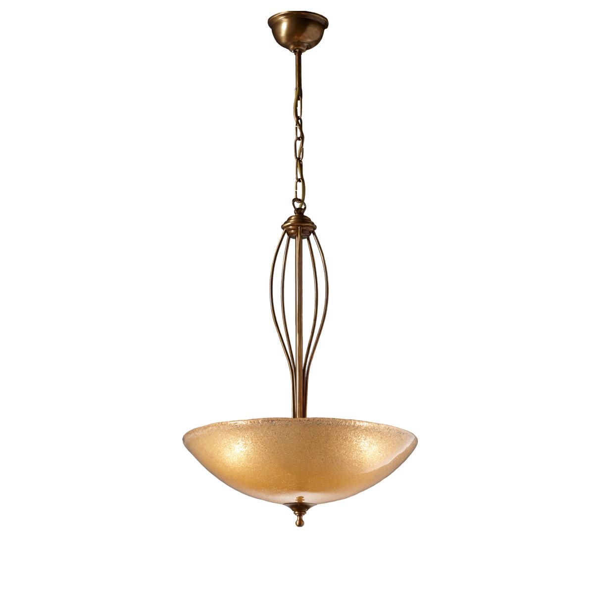 Κλασικό μονόφωτο με κρύσταλλο Murano | ΝΥΜΦΑΙΟ. Classic suspension lamp with Murano crystal | NYMPHEO