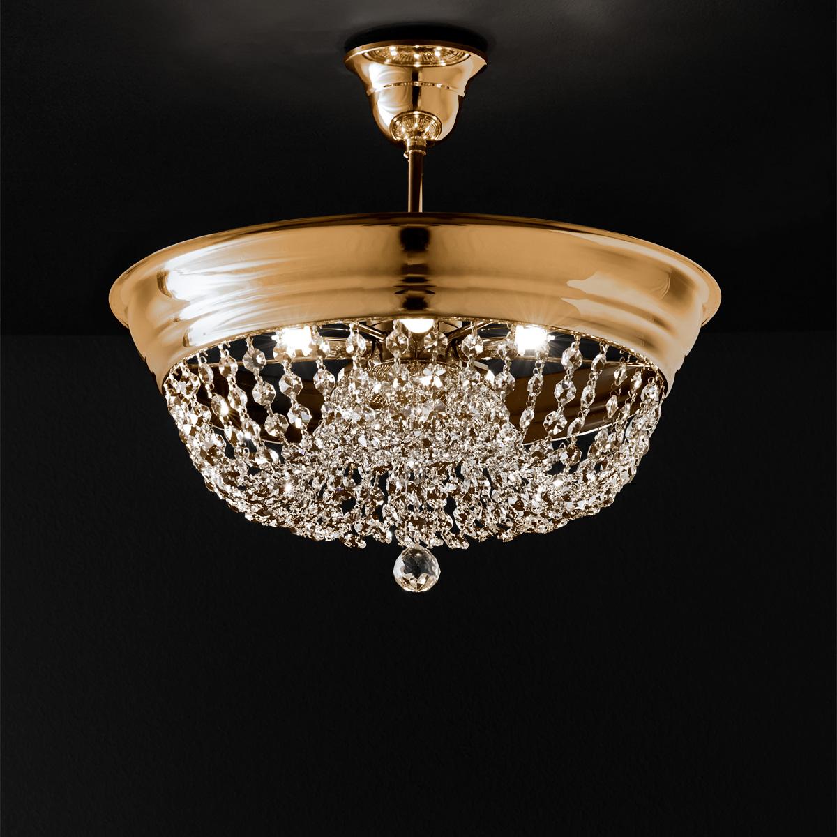 Φωτιστικό ημιοροφής με κρύσταλλα ΑΡΤΕΜΙΣ crystal suspension lamp