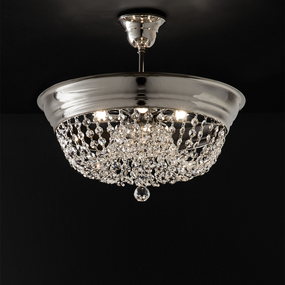 Κλασικό φωτιστικό οροφής με κρύσταλλα ΑΡΤΕΜΙΣ classic ceiling lamp with crystal accents