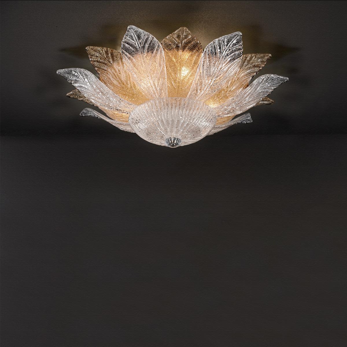 Φωτιστικό οροφής με ανάμεικτα φύλλα STELLA ceiling lamp with mixed crystal leaves