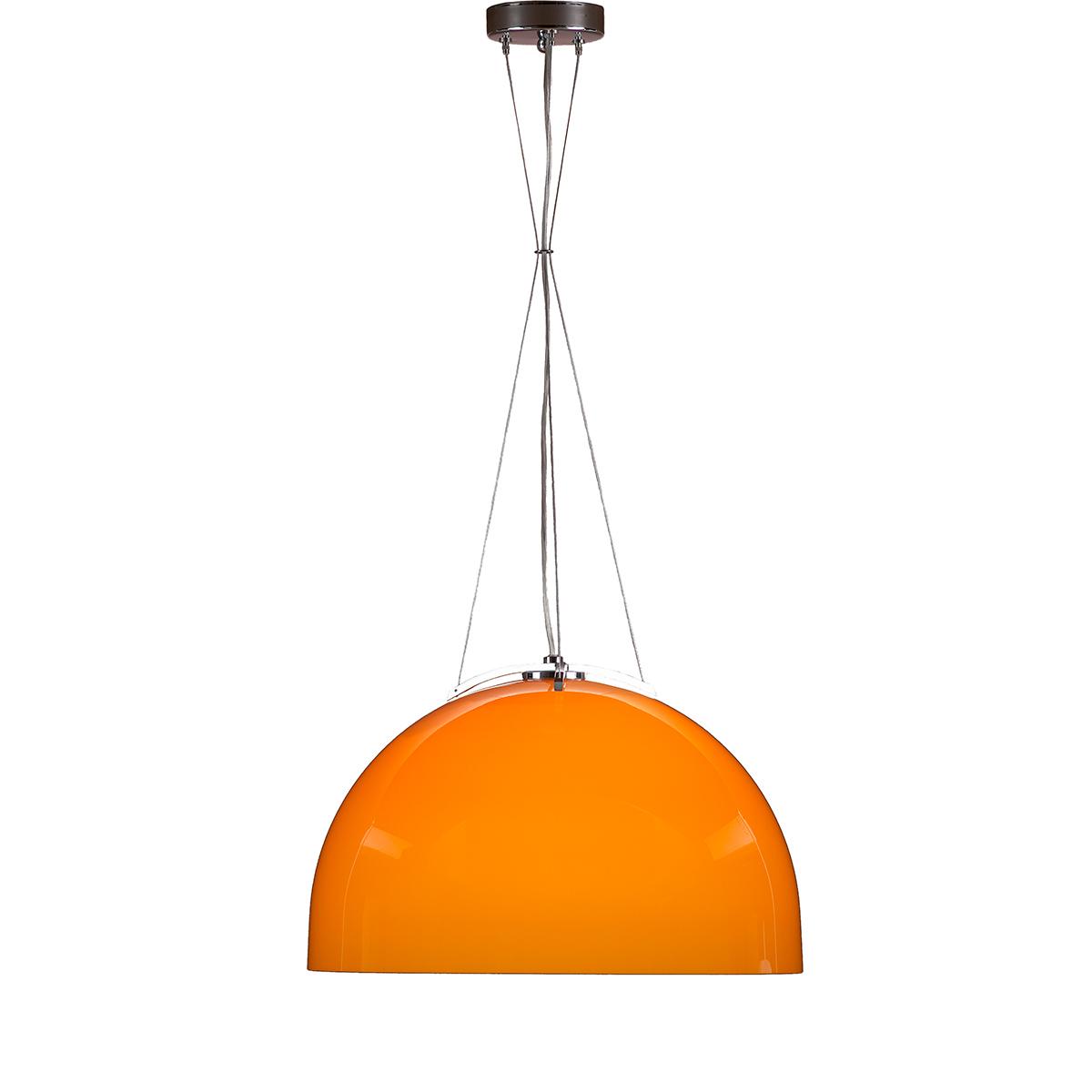 Μοντέρνο μονόφωτο Μουράνο πορτοκαλί MARS modern orange Murano suspension lamp