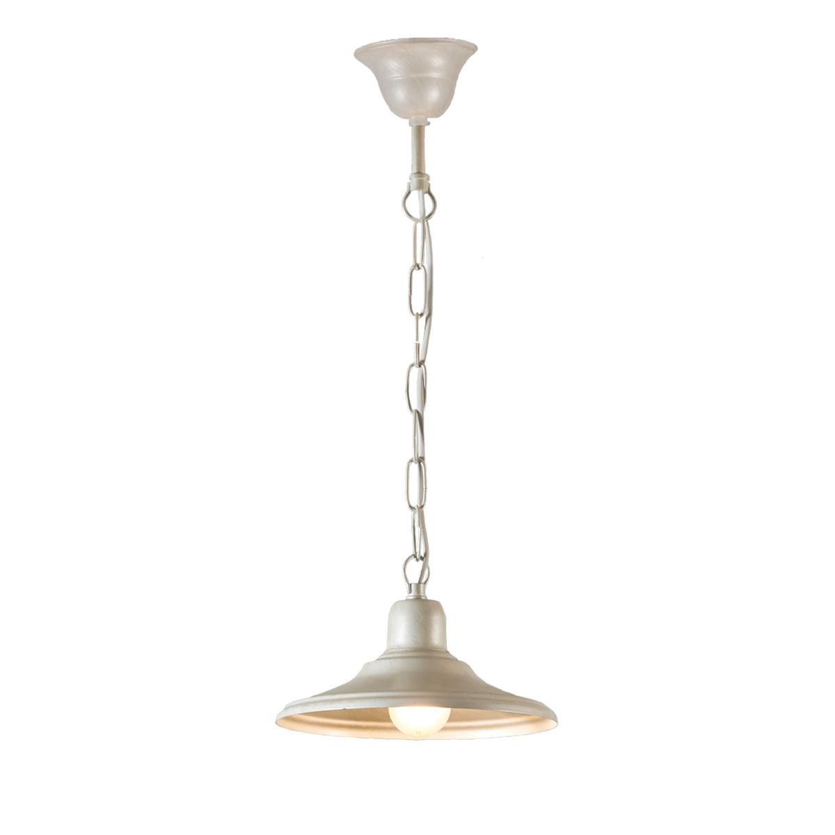 Παραδοσιακό κρεμαστό φωτιστικό σε λευκή πατίνα ΙΟΣ white patinated rustic pendant lamp