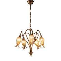 Κλασικό 5φωτο κρεμαστό φωτιστικό ΖΗΡΕΙΑ classic 5-bulb chandelier