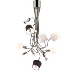 Μοντέρνο 12φωτο πολύφωτο με καπέλα FLEX modern 12-bulb chandelier