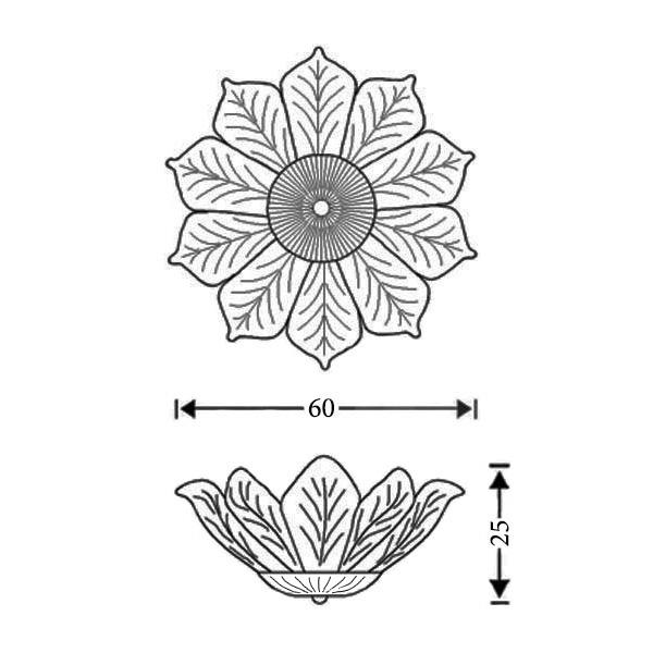 Φωτιστικό οροφής με κρυστάλλινα φύλλα Μουράνο | STELLA - Σχέδιο - Φωτιστικό οροφής με κρυστάλλινα φύλλα Μουράνο | STELLA