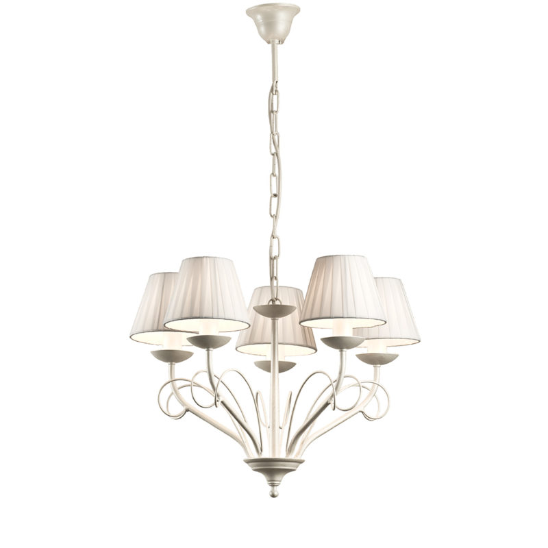 5φωτο ρουστίκ φωτιστικό με καπέλα ΣΑΝΤΟΡΙΝΗ 5-bulb rustic chandelier with shades