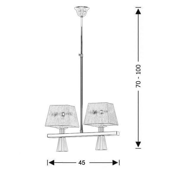 Μοντέρνο 4φωτο φωτιστικό με καπέλα | SMART-SILVER - Σχέδιο - Μοντέρνο 4φωτο φωτιστικό με καπέλα | SMART-SILVER