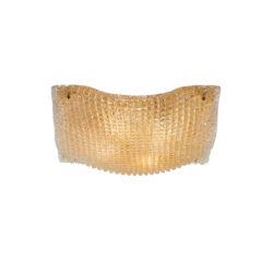 Φωτιστικό οροφής Μουράνο μελί ΜΑΝΤΗΛΙ amber Murano ceiling lamp