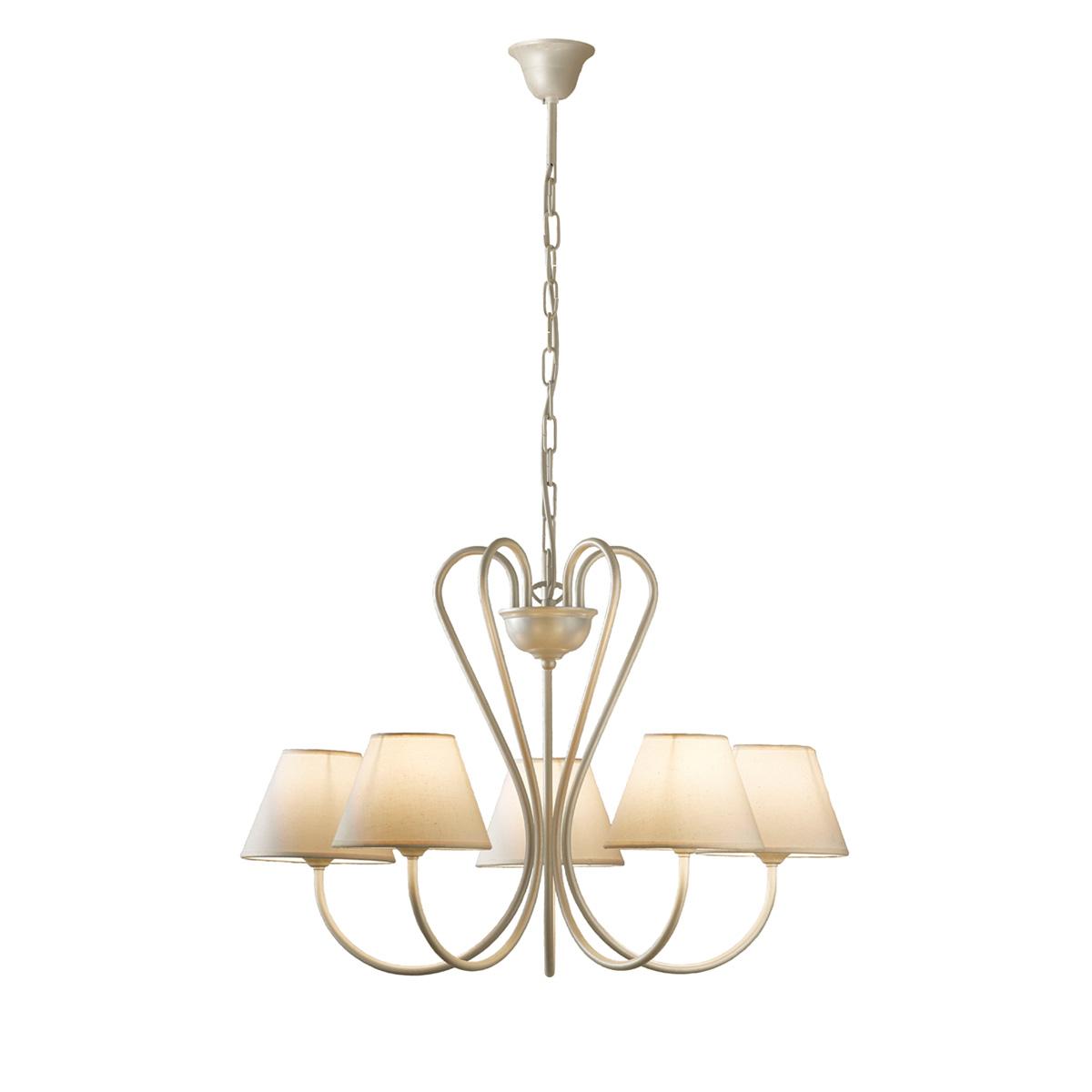 5φωτο ρουστίκ φωτιστικό με καπέλα ΝΑΞΟΣ-2 5-bulb rustic chandelier with shades