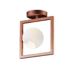 Μοντέρνο Μουράνο φωτιστικό οροφής ΜΠΑΛΕΣ modern ceiling lamp with Murano glass