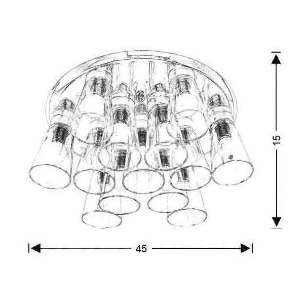 Μοντέρνο 13φωτο φωτιστικό οροφής | ΟΥΙΣΚΙ - Σχέδιο - Μοντέρνο 13φωτο φωτιστικό οροφής | ΟΥΙΣΚΙ