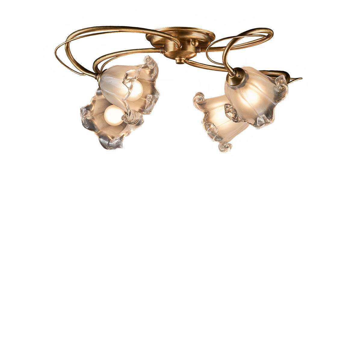 Φωτιστικό 4φωτο με κρύσταλλα Murano ΝΥΜΦΑΙΟ classic 4-bulb ceiling lamp with Murano crystals
