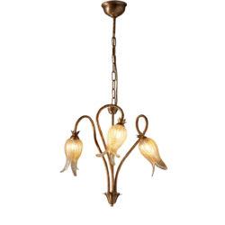 Κλασικό 3φωτο κρεμαστό φωτιστικό ΖΗΡΕΙΑ classic 3-bulb chandelier