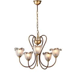 Κλασικό φωτιστικό με κρύσταλλα Μουράνο ΝΑΞΟΣ-1 5-bulb chandelier with Murano crystals