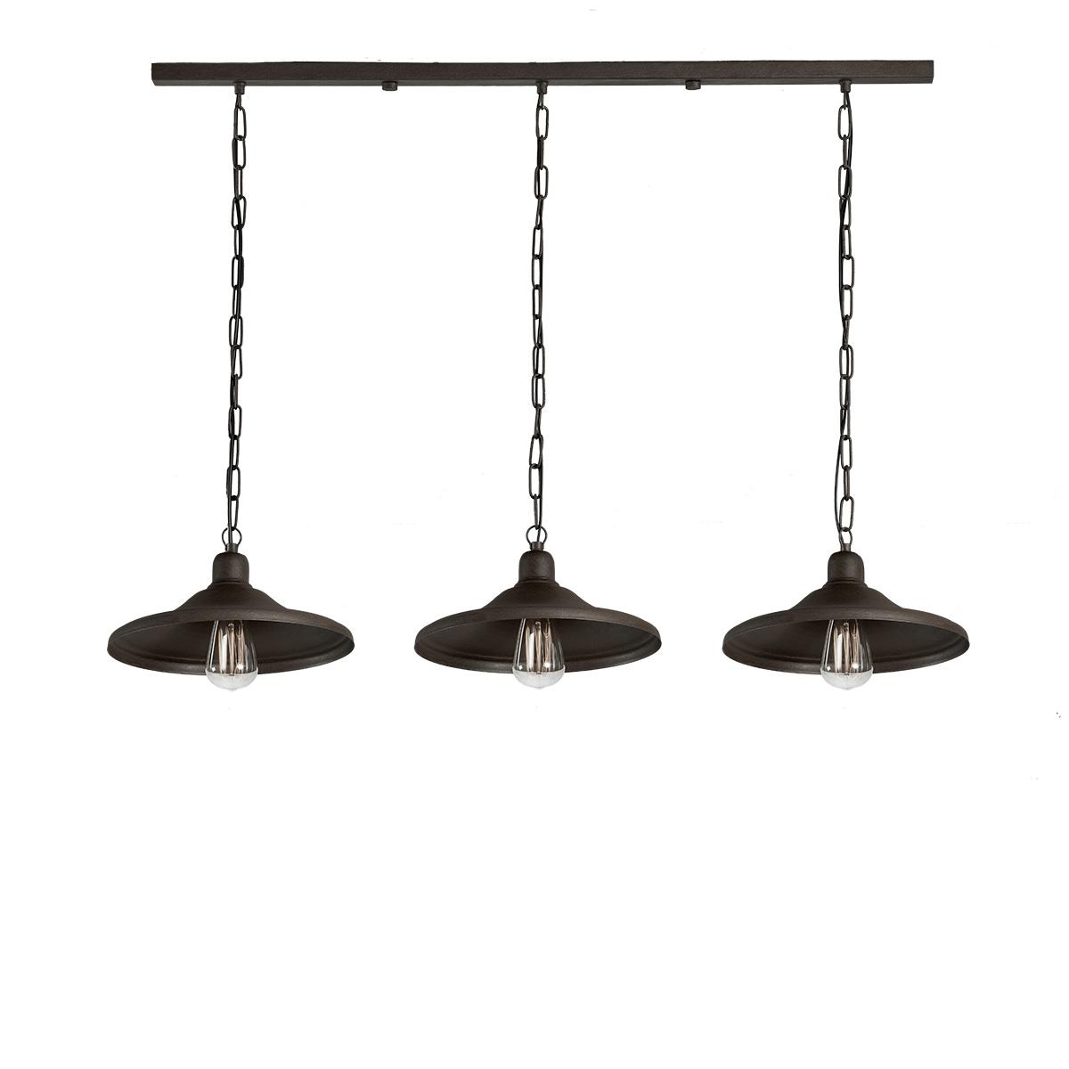 Φωτιστικό τραπεζαρίας σε πατίνα γραφίτη ΙΟΣ graphite patinated dining-table lighting