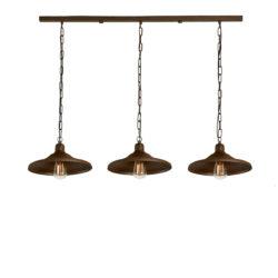 Φωτιστικό τραπεζαρίας σε καφέ πατίνα ΙΟΣ brown patinated dining-table lighting