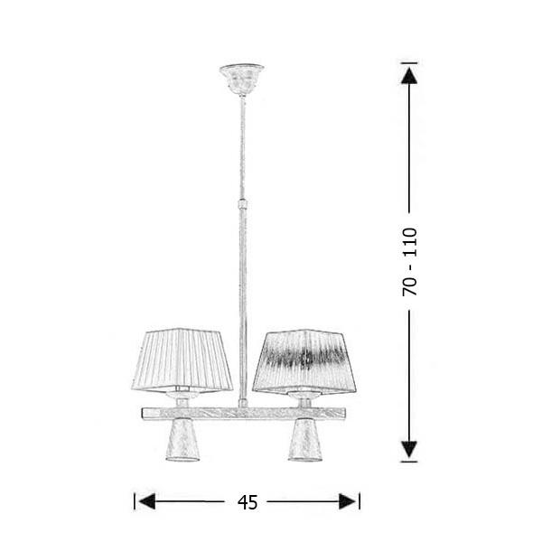 Τετράφωτο φωτιστικό ρουστίκ | SMART-CAFE - Σχέδιο - Τετράφωτο φωτιστικό ρουστίκ | SMART-CAFE
